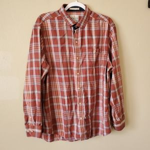 Tommy Bahama Plaid Button Down Shirt Large